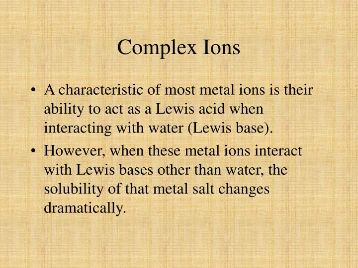 Complex Ions