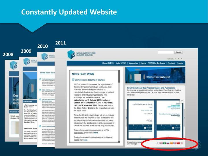 Constantly Updated Website