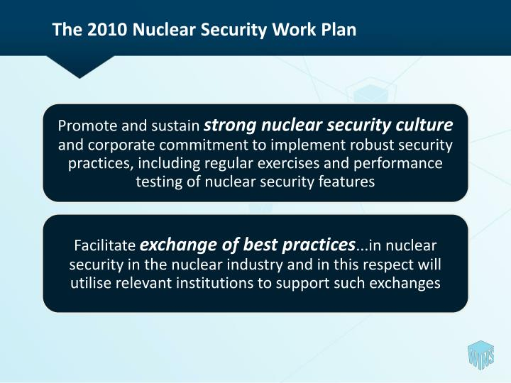 The 2010 Nuclear Security Work Plan