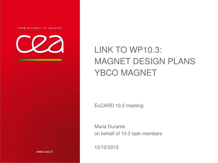 Link to wp10 3 magnet design plans ybco magnet