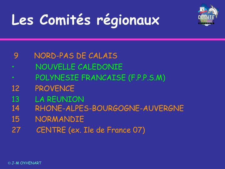 Les Comités régionaux