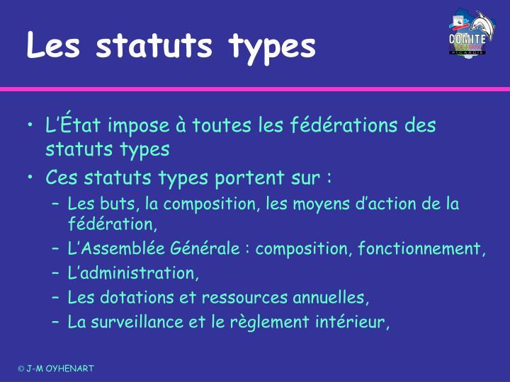 Les statuts types