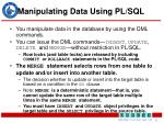 manipulating data using pl sql1