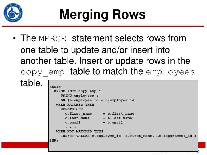 Merging Rows