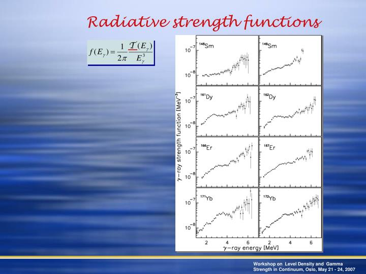 Radiative strength functions