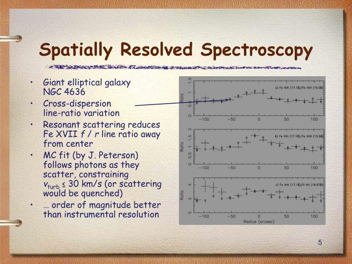 Spatially Resolved Spectroscopy