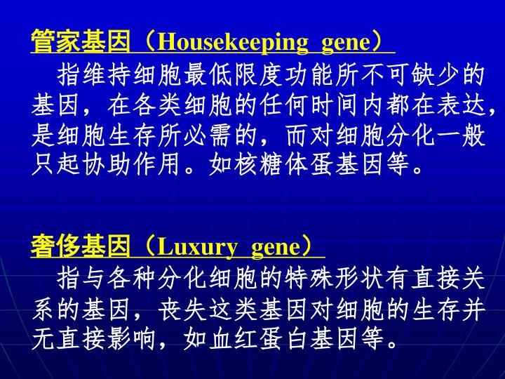 管家基因(