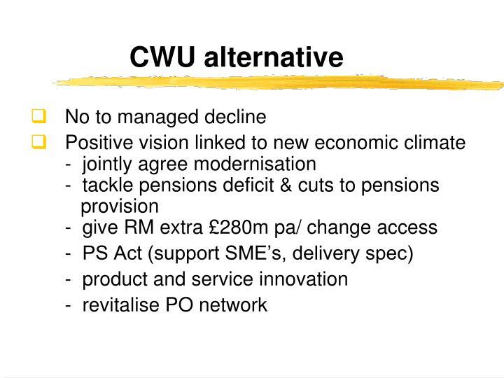 CWU alternative