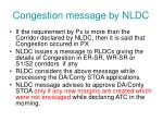 congestion message by nldc