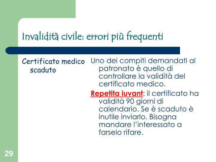 Certificato medico scaduto