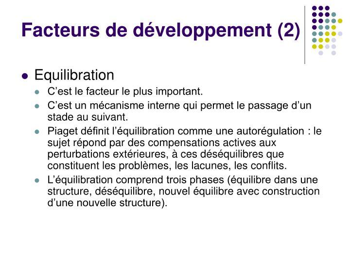 Facteurs de développement (2)