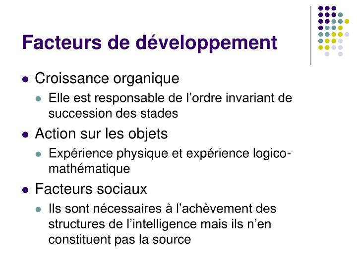 Facteurs de développement