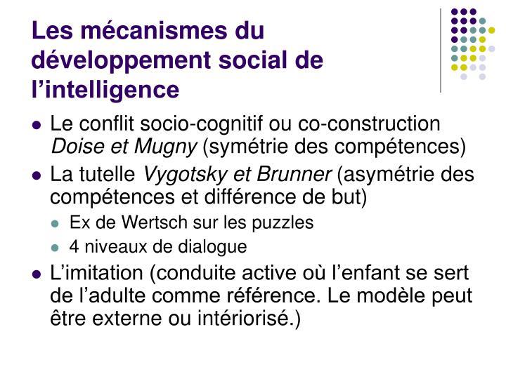 Les mécanismes du développement social de l'intelligence