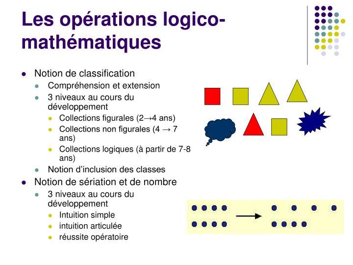 Les opérations logico-mathématiques