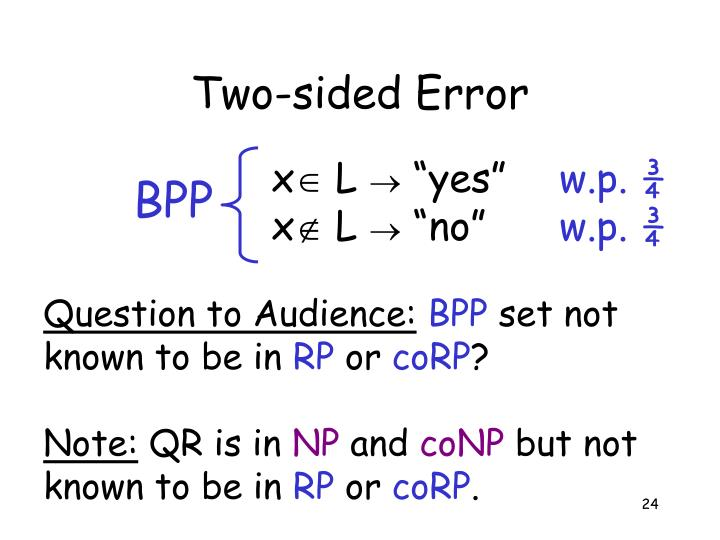 Two-sided Error