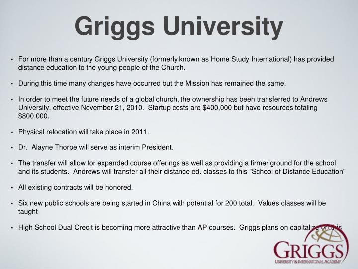 Griggs University