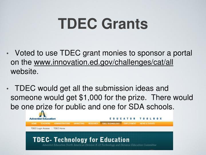 TDEC Grants