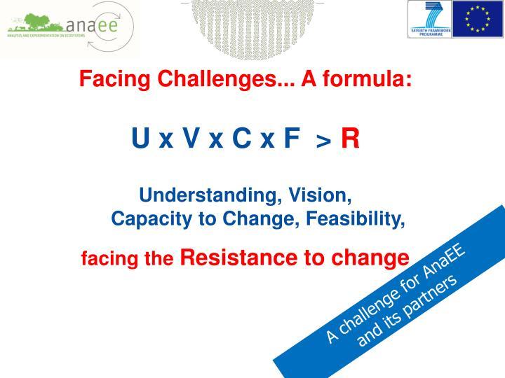 Facing Challenges... A formula: