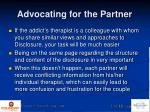 advocating for the partner1