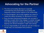 advocating for the partner2