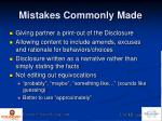 mistakes commonly made