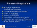 partner s preparation