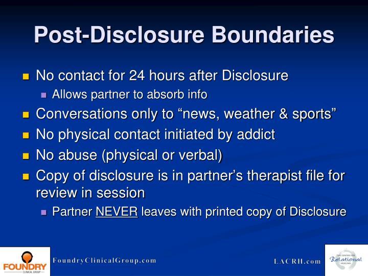 Post-Disclosure Boundaries
