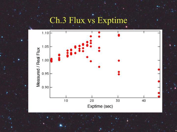 Ch.3 Flux vs Exptime
