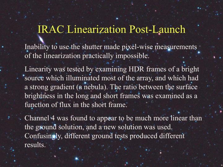 IRAC Linearization Post-Launch