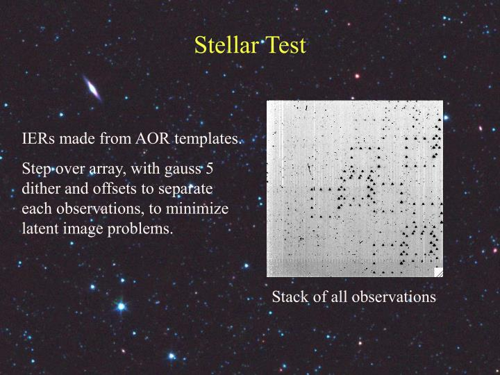 Stellar Test