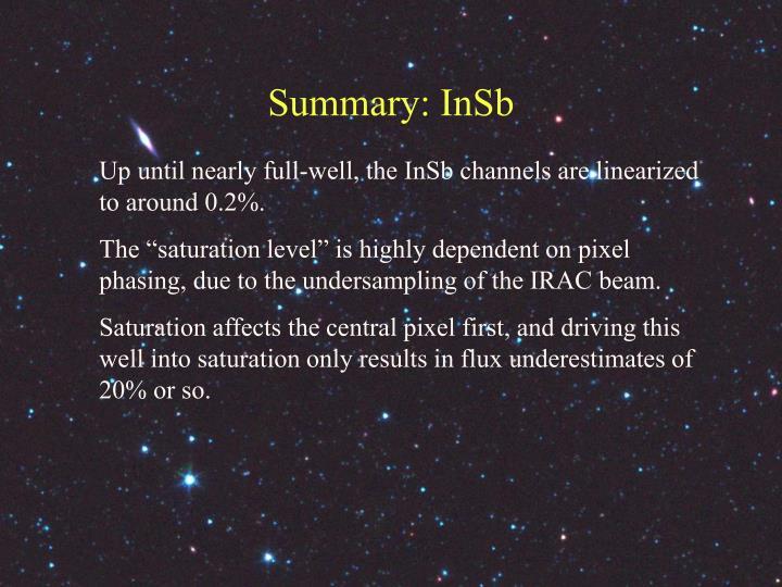 Summary: InSb