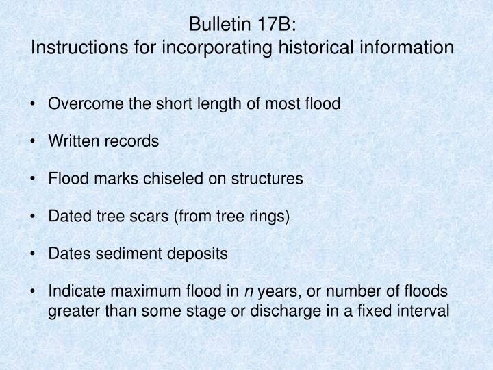 Bulletin 17B: