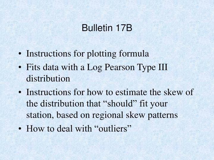 Bulletin 17B