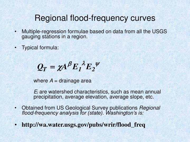 Regional flood-frequency curves