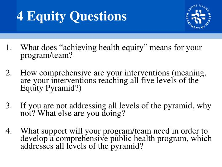 4 Equity Questions