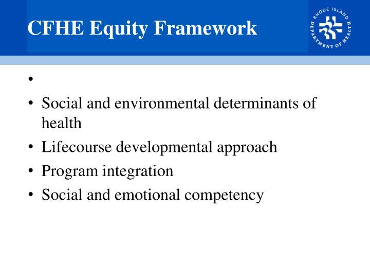 CFHE Equity Framework
