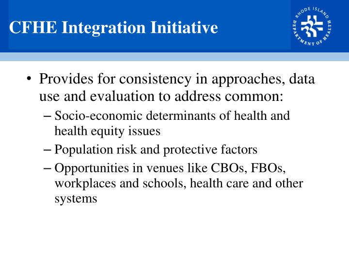 CFHE Integration Initiative