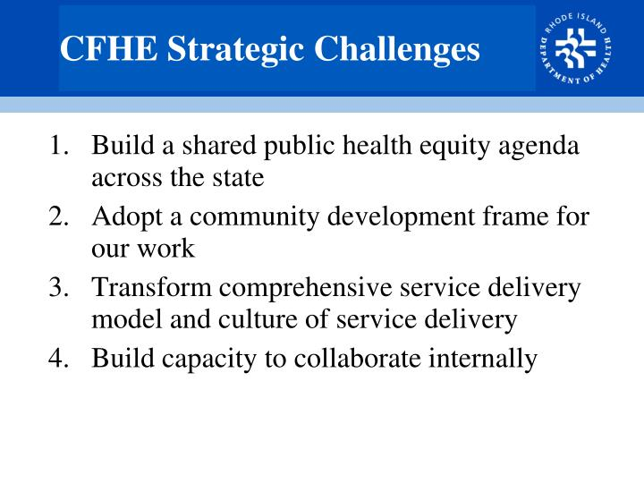 CFHE Strategic Challenges