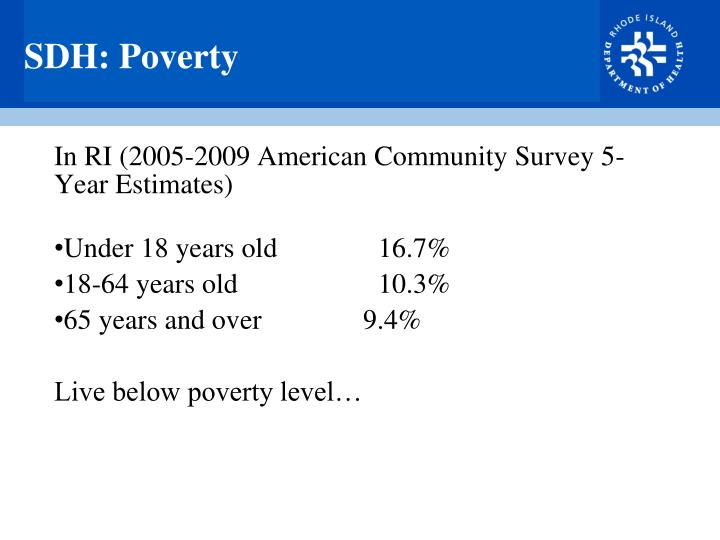 SDH: Poverty