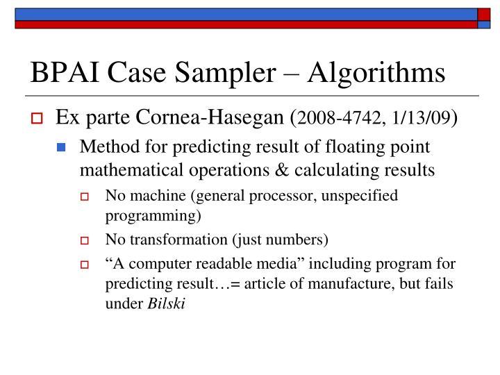 BPAI Case Sampler – Algorithms