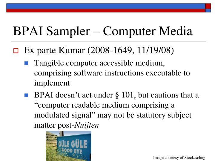 BPAI Sampler – Computer Media