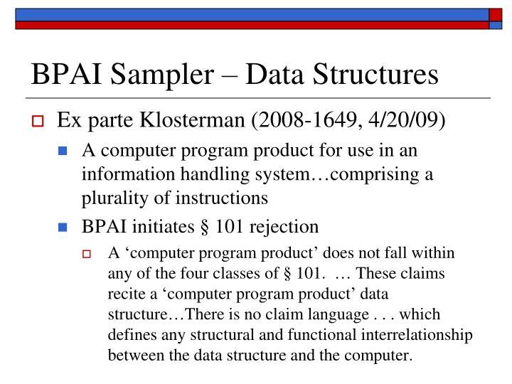 BPAI Sampler – Data Structures