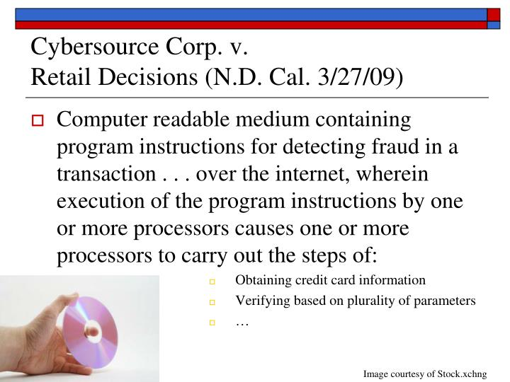 Cybersource Corp. v.