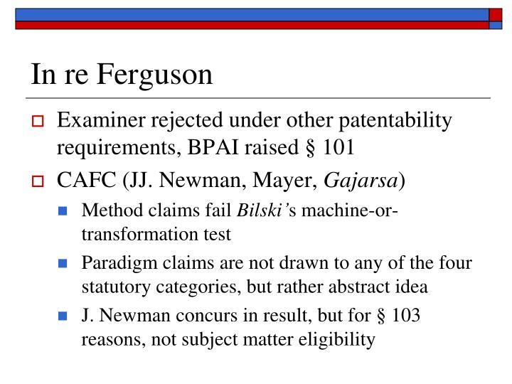 In re Ferguson