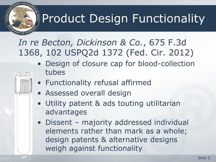 Product Design Functionality