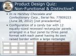 product design quiz non functional distinctive