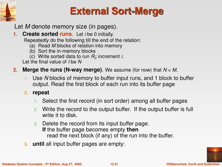External Sort-Merge