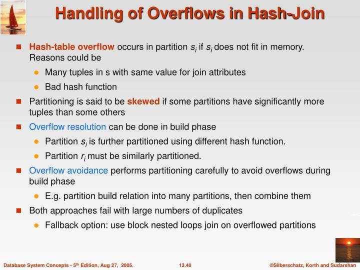 Handling of Overflows in Hash-Join