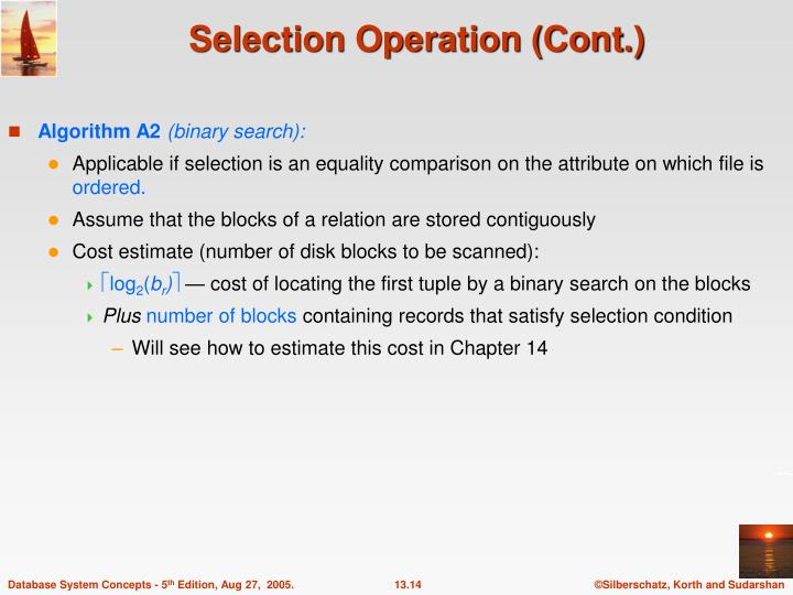 Selection Operation (Cont.)