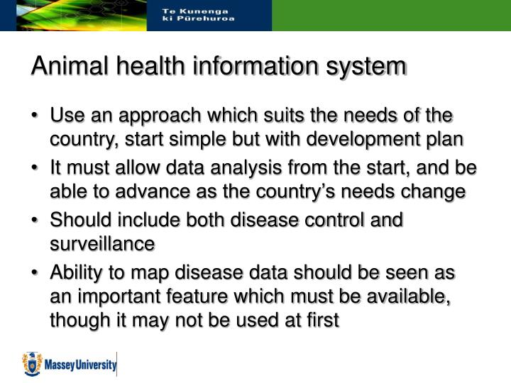 Animal health information system